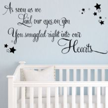 As Soon As We Laid Our Eyes on You Baby Wall Sticker Nursery ~ Wall sticker / decals